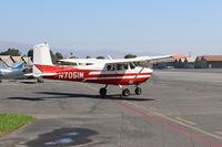 N7051M @ SZP - 1958 Cessna 175 SKYLARK, Continental GO-300-A 175 Hp, geared engine, taxi - by Doug Robertson
