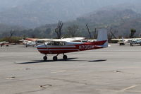 N7051M @ SZP - 1958 Cessna 175 SKYLARK, Continental GO-300-A 175 Hp geared engine, taxi to Rwy 22 - by Doug Robertson