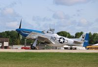 N51VL @ KOSH - North American P-51D