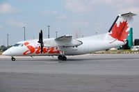 C-GANF @ CYHM - DHC8 of Jazz parked in YHM - by FerryPNL