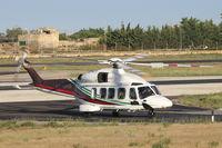 A7-GAB @ LMML - AgustaWestland AW-189 A7-GAB Gulf Helicopters