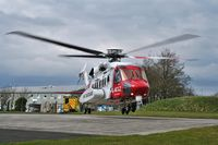 G-MCGZ - RESCUE924 departing RCH Treliske - by Rich Hobden