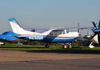 N210SH @ EGTF - Cessna P210N Centurion at Fairoaks.