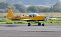 G-BUUF @ EGFH - Visiting Slingsby Firefly Mk.2. - by Roger Winser