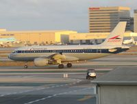 N745VJ @ LAX - leaving LA at dusk - nice retro scheme - by magnaman