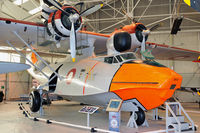 L-866 @ EGWC - Former US Navy aircraft that served in California and Hawaii during WW2.  It was purchased by the Royal Danish Air Force in 1956, overhauled and delivered in 1957, and served with Esk.721 at Vaerloese and Greenland.