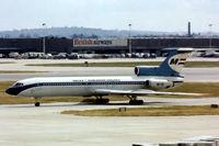 HA-LCF @ EGLL - HA-LCF   Tupolev Tu-154B2 [75A-216] (MALEV Hungarian Airlines) Heathrow~G @1978
