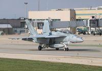 166980 @ KRFD - Boeing F/A-18F - by Mark Pasqualino