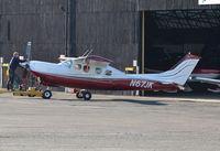 N67JK @ EGTF - Cessna P210N Pressurised Centurion at Fairoaks.