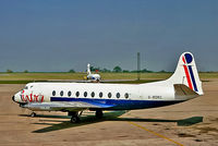 G-BDRC @ EGNX - G-BDRC   Vickers Viscount 724 [52] (Intra Airways) East Midlands Airport (Castle Donington)~G 02/06/1977