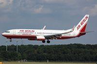 D-ABAG @ EDDL - Landing of Air Berlin B738 - by FerryPNL