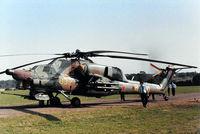 032 @ EGKR - 032 yellow Mil-Mi-28A [00-03] (Mil Design Bureau) Redhill~G 19/09/1989 - by Ray Barber