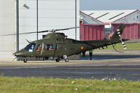 H44 @ EGSH - One of three Belgian Army A-109's visiting Norwich along with a NH90.