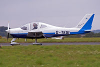 G-TESI @ EGBP - G-TESI   Tecnam P.2002 Sierra [PFA 333-14481] Kemble~G 20/08/2006. Just landed flaps down and different pilot compared to the other picture.