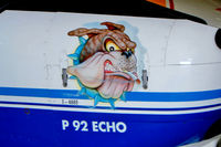 I-4885 @ LIKO - I-4885   Tecnam P.92S Echo [Unknown] Ozzano-Dell Emilia~I 16/07/2004. Showing art work on the nose.