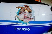 I-4885 @ LIKO - I-4885   Tecnam P.92S Echo [Unknown] Ozzano-Dell Emilia~I 16/07/2004. Showing art work on the nose.