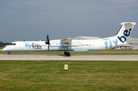 G-ECOC @ EGCC - Flybe DHC8 lined-up. - by FerryPNL