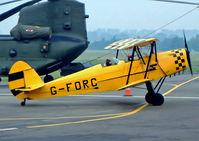 G-FORC @ EGBJ - G-FORC   SNCAN Stampe SV.4C [665] Staverton~G 10/08/2003