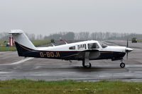 G-BOJI @ EGSH - Departing from Norwich. - by Graham Reeve