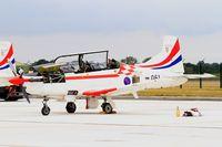 061 @ LFSI - Pilatus PC-9M, Croatian Air Force aerobatic team, Flight line, St Dizier-Robinson Air Base 113 (LFSI) Open day 2017 - by Yves-Q