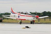 056 @ LFSI - Pilatus PC-9M, Croatian Air Force aerobatic team, Taxiing to flight line, St Dizier-Robinson Air Base 113 (LFSI) Open day 2017 - by Yves-Q