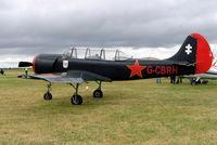 G-CBRH @ EGBP - G-CBRH  Yakovlev Yak-52 [844815] Kemble~UK 02/07/2005