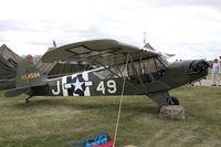 N66332 @ KOSH - Piper L-4J Grasshopper (J3C-65D)  C/N 13334, N66332
