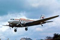 G-AMPY @ EGBJ - G-AMPY   Douglas DC-3C-47B-15-DK [15124/26569] (Intra Airways) Staverton~G @ 01/09/1975 - by Ray Barber