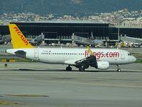 TC-DCC @ LEBL - Pegasus Airlines PC1092 departure to Istanbul (SAW)