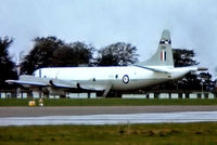A9-299 @ EGDG - A9-299   Lockheed P-3AEW Orion [5409] (Royal Australian Air Force) RAF St Mawgan-Newquay~G 01/07/1981 . From a slide not the best of images.