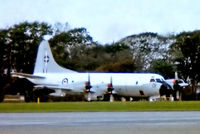 NZ4201 @ EGDG - NZ4201   Lockheed P-3K Orion [5190] (Royal New Zealand Air Force) RAF St Mawgan-Newquay~G 01/07/1981. From a slide . Not the best of images.