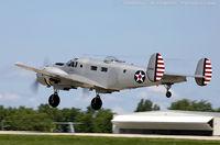 N214CR @ KOSH - Beech AT-11 Kansas Tantalizing Takeoff  C/N 41-9486, N214CR
