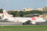 TS-IML @ LMML - A320 TS-IML Tunisair in special livery