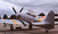 WG655 @ EGDY - Coded 910/GN. At a RNAS Yeovilton Naval Air Day in the late 1970s.