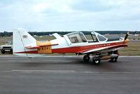 G-ASAL @ EGLF - G-ASAL   Scottish Aviation SA.120-124 Bulldog [BH129/239] Farnborough~G 10/09/1976. From a slide.