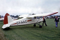 OY-AAC @ EGTH - OY-AAC  S.A.I. KZ III U-2 [108] Old Warden~G 13/07/1980