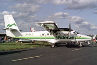 LN-BNJ @ EGLF - LN-BNJ   De Havilland Canada DHC-6-300 Twin Otter [445] (Wideroe) Farnborough~G 11/09/1992