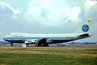 N659PA @ EGLL - N659PA   Boeing 747-121 [20354] (Pan American World Airways) Heathrow~G 10/07/1975. From a slide. Departing 28L. Broken up @ 2000