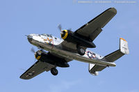 N2825B @ KFRG - North American RB-25 Mitchell Miss Hap  C/N 62-2837, NL2825B