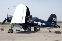 N83JC @ KFRG - Goodyear FG-1D Corsair Godspeed  C/N 67089, NX83JC