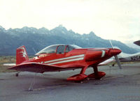 N71SC @ JAC - I bought this T-18 from Sandy Crist (builder) in the early 70s.  This photo was taken at the Jackson Hole airport on my way from San Diego to Oshkosh in 1974 or 1975.  A couple of years later I sold it to a guy at the Santa Paula airport near Ventura CA - by WILLIAM M BARTON