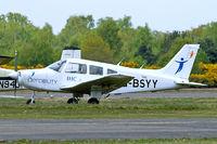 G-BSYY @ EGLK - G-BSYY   Piper PA-28-161 Warrior II [2816009] (British Disabled Flying Association) Blackbushe~G 02/05/2015