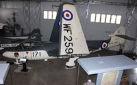 WF259 - Hawker Sea Hawk F.2 at the National Museum of Flight