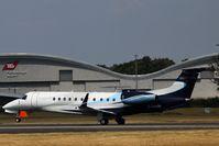 D-AHOI @ EGLF - Air Hamburg Legacy 650 landing on 24 at Farnborough - by dave226688