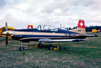 HB-HOZ @ EGLF - HB-HOZ   Pilatus PC-7 [509-58] (Pilatus) Farnborough~G 10/09/1976 - by Ray Barber