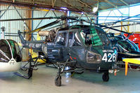 ZU-HAS @ FAVG - ZU-HAS   (XT781] Westland Wasp HAS.1 [F.9663] (Ex Royal Navy) Durban-Virginia~ZS 18/09/2014. ZU-HAS registration not applied yet.