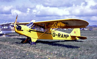 G-RAMP @ EGHS - G-RAMP   Piper J/3C-65 Cub [6658] Henstridge~G 12/04/1992. From a slide. - by Ray Barber