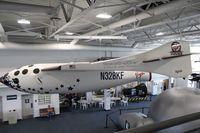 N328KF @ SQL - Replica at Hiller Aviation Museum California