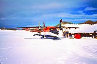D-CAWI @ EGAR - February 1990, Fuelstop at Rothera, Adelaide Island, Antarctica - by Manfred Zimmer