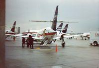 N840JS @ KDAY - Dayton, OH 1991 - by John Redding